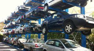 estanterias coches